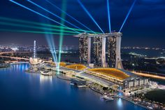 The Marina Bay Sands integrated resort and casino is located just opposite the Marina Bay Street Circuit