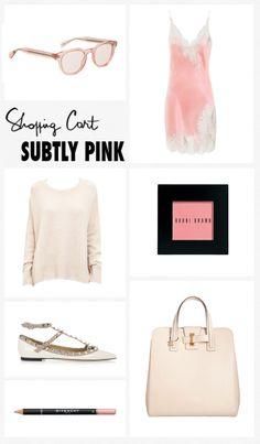 Subtly Pink. Pale pink.