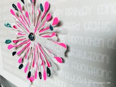 papierZART : Trommelwirbel, Geburtstag, Stanze, Alexandra Renke, Neon, Karten, Happy Birthday, Goldfolie, Folienstift, Blüten Stanze, Pusteblume Stanze, KbD-AR-FR0003