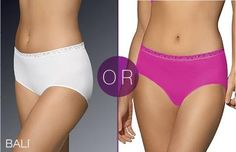 Bali 2650 Comfort Revolution Seamless Lace Hi-Cut Panty $4.13