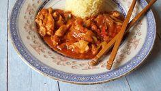 Családi kondér: Szecsuáni csirke Thai Red Curry, Ethnic Recipes, Food, Essen, Meals, Yemek, Eten