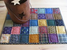Miniature Quilt Quilted Table Mat Quilted Table Topper by dlf724, $19.00