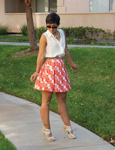 DIY Pleated Skirt   Pattern Review M6706
