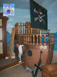 Pirate Ship Theme Childrens Bed