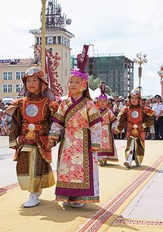 young mongolian in traditional clothing