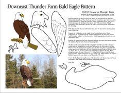 America's Majestic Bald Eagle Eagle softie pattern Felt Patterns, Bird Patterns, Craft Patterns, Bird Template, Owl Templates, Crown Template, Heart Template, Applique Templates, Flower Template