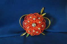 vintage brooch with pearls by TimesTwoBoutique on Etsy, $28.00