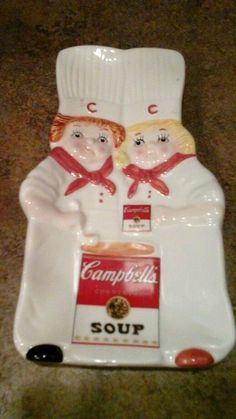 Campbell's Soup Spoon Rest Benjamin & Medwin Inc 1998 Kitchen Red