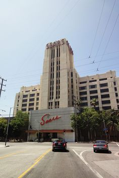 In Boyle Heights, Los Angeles CA: the empty shell of a once-grand art deco Sears building looms over the streets. Vintage California, Southern California, Chicano, Lynwood California, Huntington Park, East Los Angeles, Streamline Moderne, Dodgers Baseball, City Of Angels
