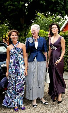 H.M. Queen Margrethe II of Denmark and HH.RR.HH. The Princesses Mary and Marie of Denmark