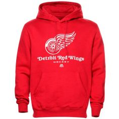 Mens Detroit Red Wings Majestic Red Critical Victory VIII Fleece Hoodie
