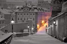 Snowy Day @ Prague by Martin Froyda #prague #snow