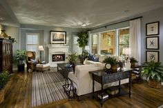 Bella Fiore - traditional - family room - las vegas - by Citrine Interior Design