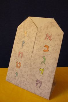 jewisheveryday: Ten Commandments Origami--using Hebrew numbers 1-10