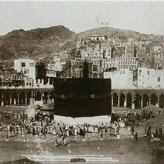 Mecca Masjid, Masjid Al Haram, Mecca Wallpaper, Islamic Posters, Mekkah, Islamic Studies, Saudi Arabia, Mosque, Historical Photos
