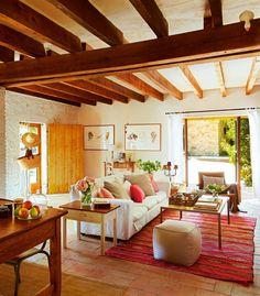 Beautiful barn house in Spain   Bright interior