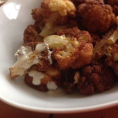 Fried Cauliflower with Lemon-Tahini Sauce