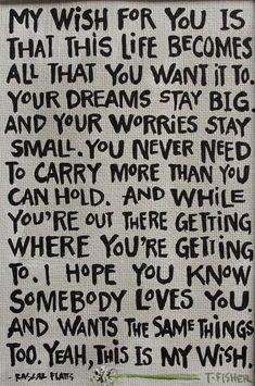 I wish.
