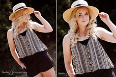 senior pictures for girls | Magazine-style-senior-pictures-of-blonde-girl-in-hat-photographed-for ...