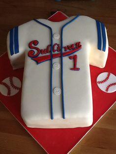 Baseball birthday party - jersey cake