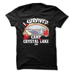 I Survived Camp Crystal Lake 1980 T-Shirt - #tshirt customizada #tshirt print. CHECK PRICE => https://www.sunfrog.com/Movies/I-Survived-Camp-Crystal-Lake-1980-T-Shirt.html?68278