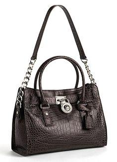 MICHAEL KORS Hamilton East West Leather Satchel Bag