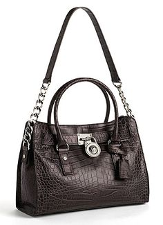 MICHAEL KORS Hamilton East West Leather Satchel Bag