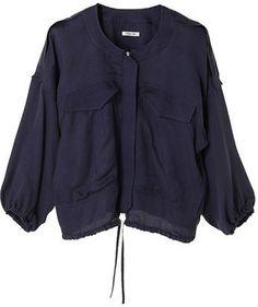 Military style collarless jacket / POPSUGAR Shopping: The Dayz tokyoミリタリーオーバーブルゾン