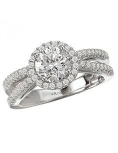 Split Shank Halo Semi-Mount Ring from Love my Romance.