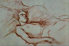 """artist-lautrec: """"Sleeping Woman by Henri de Toulouse-Lautrec """""""