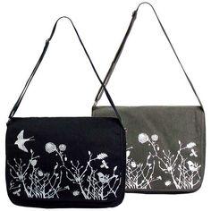 Whimsical Garden Vintage Feel Canvas Messenger Bag – Ask Alice by All Gifts Online Canvas Messenger Bag, All Gifts, Printed Bags, Online Gifts, Cotton Canvas, Whimsical, Satchel, Stationery, Shoulder Bag