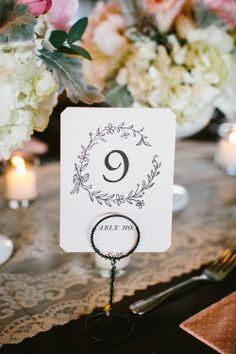 Elegant Vintage Style Table Numbers | photography by http://pencarlson.com/