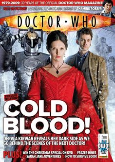 """Doctor Who Magazine """"Cold Blood"""" by Stuart Manning Stuart Manning, Doctor Who Magazine, Don't Blink, Dr Who, Dark Side, Behind The Scenes, Fiction, Interview, Magazine Covers"""