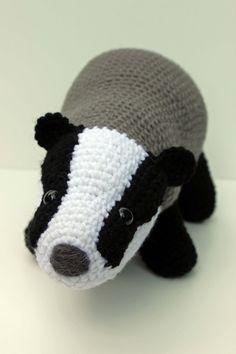 Crochet Pattern Badger Amigurumi PDF Download by MilesofCrochet  I so want one, it is so cute.