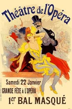 Theatre de L'opera french Vintage Poster Art - art nouveau