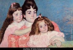 Portrait Of Madame A  F  Aude And Her Two Daughters - Mary Cassatt - www.marycassatt.org