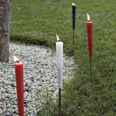 Hello 4th of July Party Candles, or anytime....