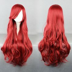 New The Little Mermaid Wig Princess Ariel Red Wig Anime Cosplay Role Play Wig Hair Decoration with hair net Ariel Cosplay, Cosplay Hair, Disney Cosplay, Cosplay Wigs, Disney Little Mermaids, The Little Mermaid, Little Mermaid Cosplay, Little Mermaid Costumes, Mermaid Wig