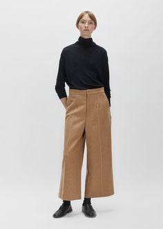 Knit Melton Wool Pants
