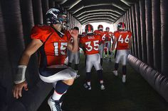 In the tunnel before the Broncos & Lions game.