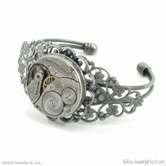 Steampunk JEWELRY | Steampunk Jewelry - Watch Movement Wrist Cuff - GothicJewelryArtists ...
