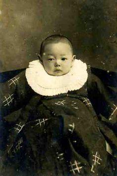 Vintage Japanese Baby Portrait