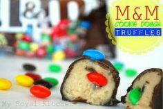 M&M cookie truffles
