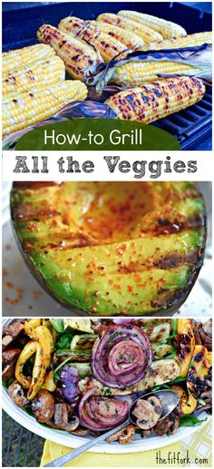Learn how to grill all the vegetables to pair with your summer meals. Everything from grilled corn zucchini eggplant tomatoes onions mushrooms -- even lettuce and corn. Clean Eating Snacks, Healthy Eating, Healthy Treats, Healthy Food, Diet Recipes, Cooking Recipes, Recipes For The Grill, Vegan Grill Recipes, Cooking On The Grill