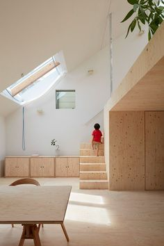 Projects|Tomohiro Hata Architect & Associates|An architecture office in Kobe, Japan Plywood Interior, Interior Minimalista, Minimal Home, Architecture Office, Interior Exterior, Architect Design, Simple House, Interiores Design, Home Decor Inspiration