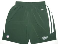 Tommy Bohanon Training Worn Official New York Jets #40 Nike Speed Vent Performance Dri-FIT XL Shorts