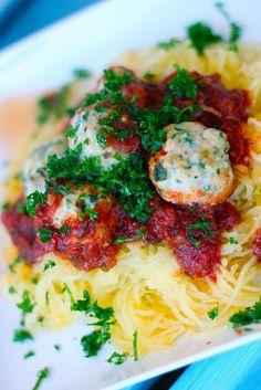 turkey meatballs w/ spaghetti squash
