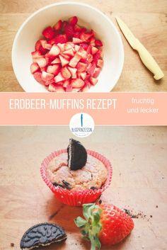 Erdbeermuffins – schnelle Muffins mit Erdbeeren mein einfaches Rezept für super fruchtige Muffins. http://blogprinzessin.de/2016/04/08/wie-du-schnell-leckere-erdbeer-muffins-backst/