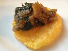 Gluten-Free Broiled Polenta with Spinach and Mushroom Ragout (GF, DF, SF)