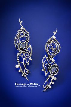 Ondolinde Sterling silver 925 blue faceted от CharmofMetal